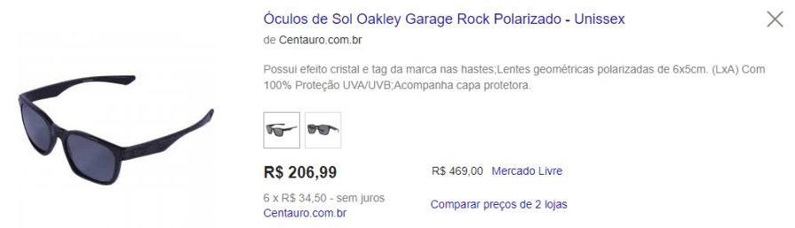 76059286c7294 Óculos de Sol Oakley Garage Rock Polarizado - Unissex R 200