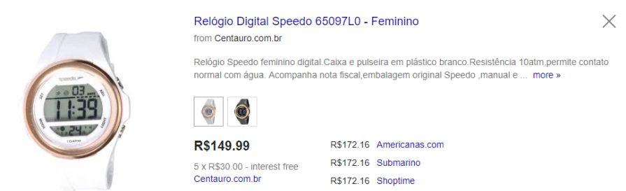 18f68cfd075 Relógio Digital Speedo 65097L0 - Feminino R 120