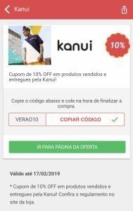 Cupom de 10% Off em produtos vendidos e entregues pela Kanui! 0602a94594062