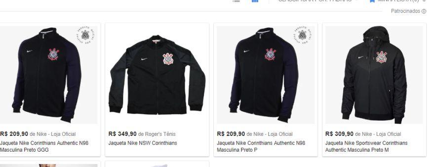9dbc62b7d99c1 Jaqueta Nike Corinthians Authentic N98 Masculina - Tamanhos P e GGG ...