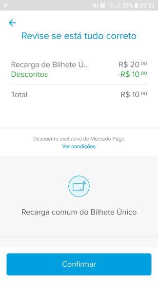 Mercado pago - 50% OFF na recarga do bilhete único  dfd2d45e12dcd