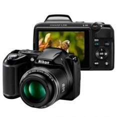 """[RICARDO ELETRO] Câmera Digital Nikon Coolpix L330 Preta - 20.2 MP, LCD 3.0"""" Por 465"""