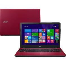 """[Shoptime] Notebook Acer E5-571-51AF Vermelho por R$1500 - Intel Core i5 4GB 1TB Tela LED 15.6"""" Windows 8.1"""