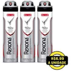 [Extra] Kit Compre 2 e Leve 3: Desodorante Antitranspirante Aerosol Rexona Antibacterial por R$ 19