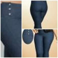 [Posthaus] Calca Jeans Azul com Botões na Lateral R$ 70,00