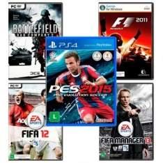 [Salfer] PES 2015 para PS4 + 4 Super Jogos Para PC - R$50