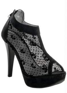 [Posthaus] Ankle Boot Detalhe Renda Preto - R$40