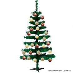 [Ricardo Eletro] Kit Promocional de Natal 13 Peças: Pinheiro Canadense Verde 60cm + 12 Bolas por R$ 25