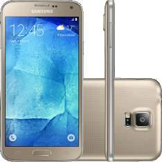 "[SouBarato] Samsung Galaxy S5 New Edition Ds Dual Chip Desbloqueado Android 5.1 Tela 5.1"" 16GB 4G 16MP - Dourado R$1079,10"