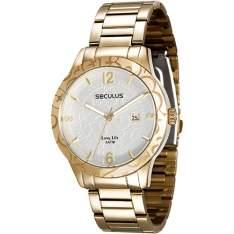 [Shoptime] Relógio Feminino Seculus Analógico R$ 120