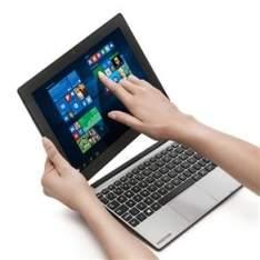 """[PONTO FRIO]Notebook 2 em 1 Touch Positivo Duo ZX3040 com Intel® Atom™ Quad Core, 1GB, 16GB SSD, Leitor de Cartões, Mini HDMI, Bluetooth, LED 10.1"""" e"""