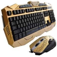 [ponto frio] Kit Gamer Teclado + Mouse Gamer V-100 USB Para Jogos Dourado-R$102,00
