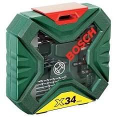 [Clube do Ricardo]Kit X-Line 34 peças - Jogo de Brocas e Pontas para Furar e Parafusar - Bosch por R$ 30
