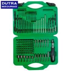 [Dutra Máquinas] Jogo de brocas e bits para furar/parafusar - 118 peças - Hitachi - R$90