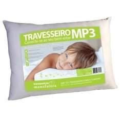 [Ponto Frio] Travesseiro CDS Eireli MP3 180 fios - Branco por R$ 68