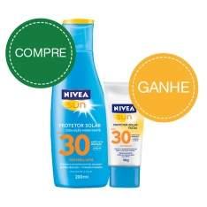 [NetFarma] Protetor Solar Nivea Sun FPS 30 com Ação Hidratante (200ml) + Protetor Solar Facial Nivea Sun FPS 30 (50g) - R$27
