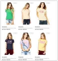 Voltou [Dafiti] Promoção Camisetas Aeropostale a partir de R$ 30