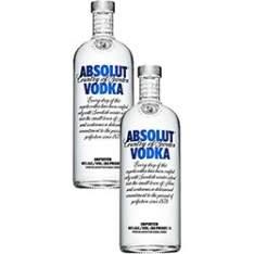 [SHOPTIME] 2 Vodkas Absolut - Vários Sabores - R$126