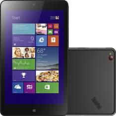 "[Voltou- Americanas] Tablet Lenovo Thinkpad 8 64GB Wi-Fi Tela 8.3"" Windows 8.1 Processador Intel Atom Z3770 Quad Core - Preto por R$ 512"