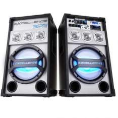 [ricardoeletro]Caixa Amplificada NKS PK3000 Bluetooth, 2X150W RMS e Alto-Falante de 10 Polegadas, Entrada USB, Rádio FM, Display LED + Microfone com F