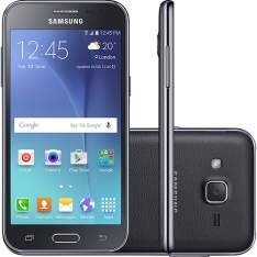 """[SHOPTIME] Smartphone Samsung Galaxy J2 Duos Dual Chip Desbloqueado Android Tela 4.7"""" 8GB 4G Wi-Fi Câmera 5MP TV Digital - Preto - R$ 469,00"""
