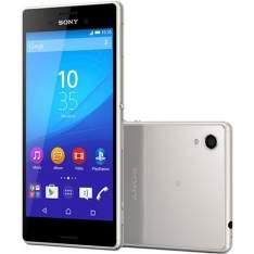 """[Sou Barato] Smartphone Sony Xperia M4 Aqua Dual Chip Desbloqueado Android Lollipop 5.0 Tela 5"""" 16GB 4G Câmera 13MP - Prata por 879"""
