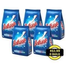 [Ponto Frio] Compre 4 e leve 5 Detergentes em Pó Brilhante Multi-Tecidos de 2 Kg por R$ 34