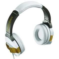 [Clube do  Ricardo] Fone de Ouvido Bomber Branco e Dourado com Partes Banhada a Ouro - HB10 por R$ 40