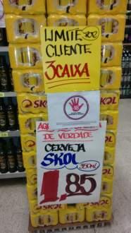 [Loja Física-Nagumo Tatuapé] Cerveja Skol 365ml por R$ 1,85