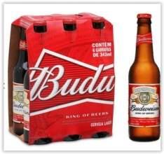 [Emporio da Cerveja] Budweiser 343ml - Caixa com 6 unidades Validade 17/02 por R$ 15