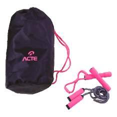 [SOU BARATO] Kit Beauty 2 Halteres de 1kg + Extensor + Corda de Pular + Bolsa - Acte Sports - R$35