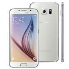 """[EXTRA] Smartphone Samsung Galaxy S6 SM-G920I Branco com Tela 5.1"""", Android 5.0, 4G, Câmera 16MP e Processador Octa-Core - R$1999,00"""