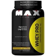 [CENTAURO] Whey Protein Max Titanium - 1Kg - Sabor Baunilha - R$46