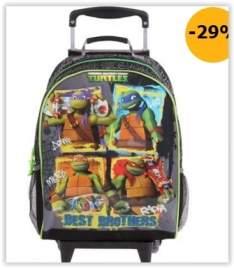 [Casas Bahia] Mochilete G DMW As Tartarugas Ninja Brothers – Preto/Verde por R$ 136