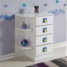 [CASAS BAHIA] Cômoda para Berço Fritz Baby com 4 gavetas - Branco - R$108