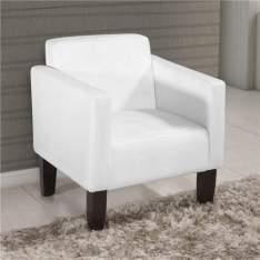 [CASAS BAHIA}  Poltrona American Comfort Cintia em Korino AC 3600 - BRANCA - R$228