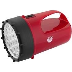 [SHOPTIME] Lanterna 360678 19 LEDS Recarregável Vermelho - Worker - R$69