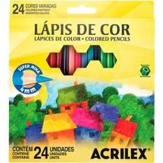 [Americanas] Lápis de Cor Acrilex Hexagonal 24 Cores por R$ 17