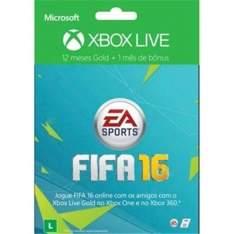 [Casas Bahia] Xbox Live Gold 12 Meses FIFA 16 + 1 Mês de EA Access por R$ 99
