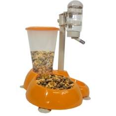 [AMERICANAS] Comedouro e Bebedouro Alimentador Automático Para Cães e Gatos R$130