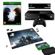 [Cdiscount] Xbox One 500 GB + Controle Sem Fio + Kinect + Headset + Jogo Halo 5: Guardians + Brinde Puzzle Halo 5 por R$ 1900