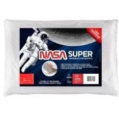 [Ponto Frio] Travesseiro Fibrasca Nasa Super em Poliéster com Viscoelástico 50 x 70 cm - Branco por R$