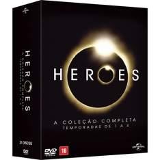[Submarino] DVD - Heroes: A Coleção Completa - Temporadas de 1 a 4 (21 Discos) por R$ 54