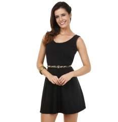 [Marisa] Vestido feminino com pregas por R$20