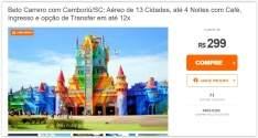[Peixe Urbano] Balneário Camboriú/SC com Aéreo - Voale Turismo a partir de R$ 300
