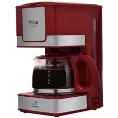 [Ponto Frio] Cafeteira Elétrica Philco PH16 - Vermelho/Aço Escovado 220V por R$ 69