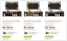 [Americanas] Rack com Painel Gallardo 100% MDF - Classic Home - em 3 Cores por R$ 171