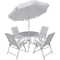 [Americanas] Conjunto de Mesa para Jardim Malibu com 4 Cadeiras Branco - Mor R$470,24 Use o cupom: FOLIA10