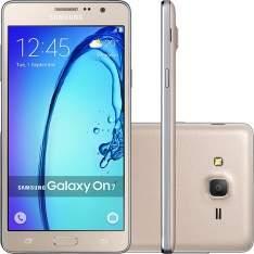"[Submarino] Smartphone Samsung Galaxy On7 Dual Chip Desbloqueado Android 5.1 Tela 5.5"" 8GB 4G 13MP - Dourado R$752,49"