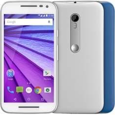 """[Americanas] Smartphone Motorola Moto G 3ª Geração Colors Dual Chip Desbloqueado Android 5.1 Tela HD 5"""" 16GB de Memória Interna 4G Câmera 13MP Processador Quad Core 1.4GHz Branco - R$809"""